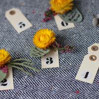 DIY: Eucalyptus Escort Cards with Fresh Flower Push Pin