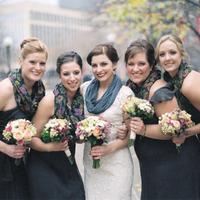 Winter, Winter Weddings, Bridal party, winter wedding fashion, winter bridal party