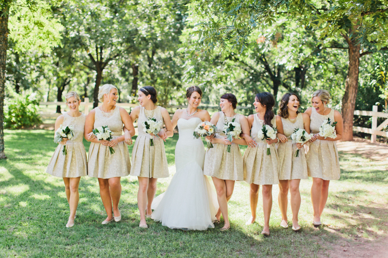 Bridesmaids in Ivory