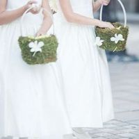 Moss Flower Girl Baskets