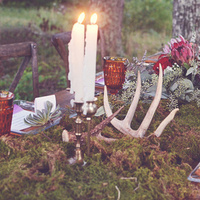 Moss Tablescape