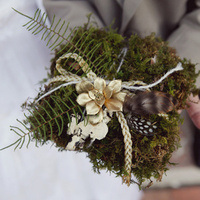 Moss Ring Bearer Pillow