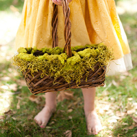 Mossy Flower Girl Basket
