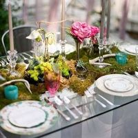 Mossy Garden Tablescape