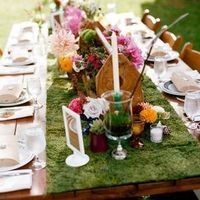 Whimsical Moss Tablescape