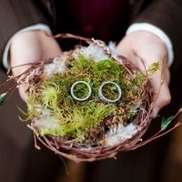 Nature-Inspired Ring Pillow