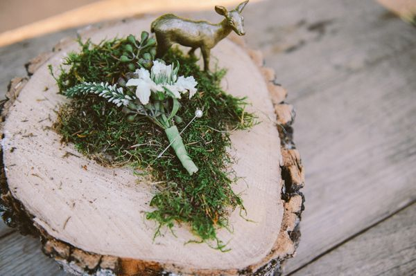 Moss and Bark Centerpiece