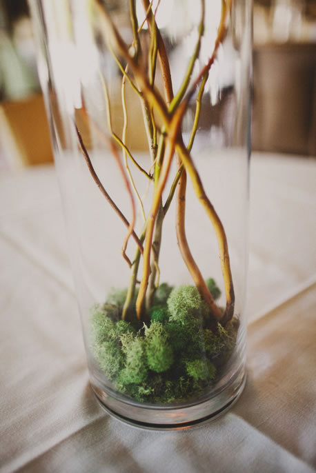 Moss and Branch Centerpiece