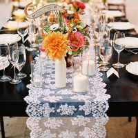 Sheer Lace Table Runner