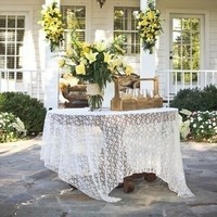 Lace Welcome Table