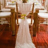 Lace Wedding Chair Decor