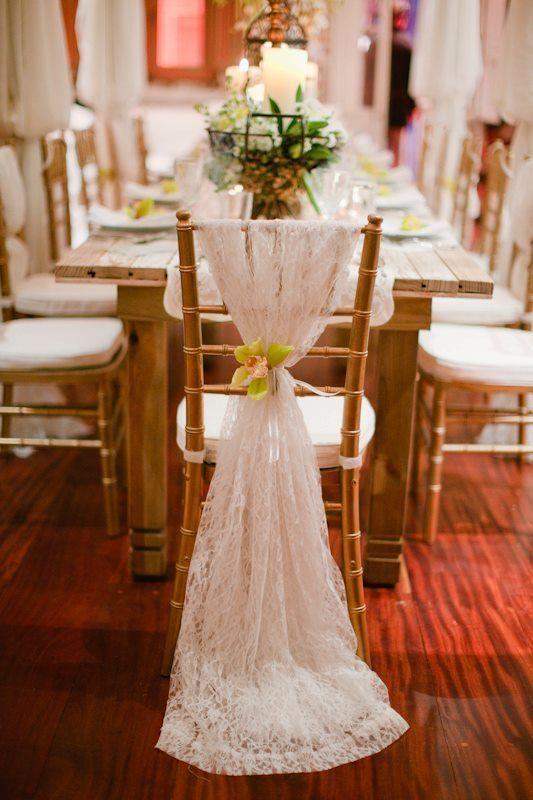 Lace Wedding Chair Decor