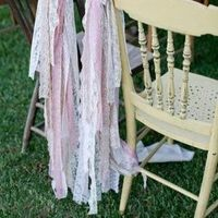 Ribbon and Lace Chair Decor