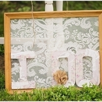 Shabby Chic Lace Sign