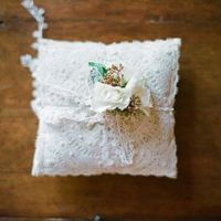 Crochet Lace Ring Pillow