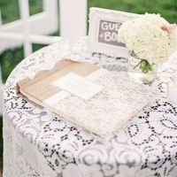 Lace Guestbook Cover