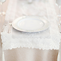 White Lace Wedding Table