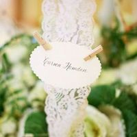 Lace Escort Card Display