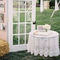 Rustic Lace Welcome Table
