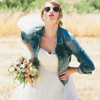 Bride with Jean Jacket