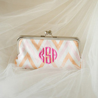 Monogram Clutch Bridesmaid Gift