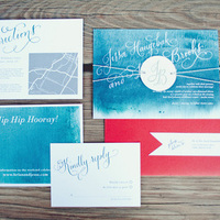 Bright Nautical Wedding Invitations