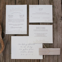 Antler Rustic Wedding Invitations