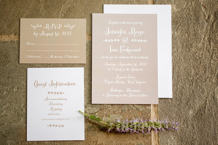 Brown Rustic Wedding Invitations