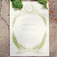 Green Rustic Wedding Invitations
