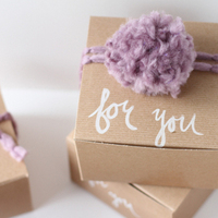DIY: Hand Painted 'For You' Gift Boxes