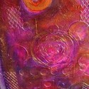 1389723171 thumb photo preview purple orange gold texture large original mixed media collage painting b2d87035