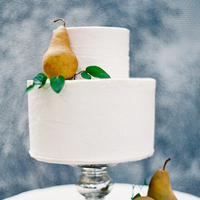 Pear Fruit Wedding Cake
