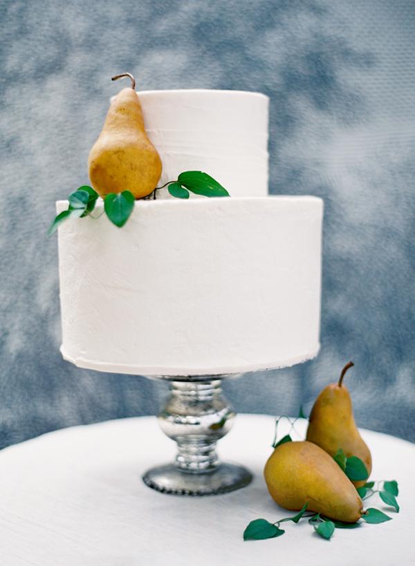 Pear Fruit Wedding Cake