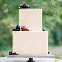Dark Cherries Fruit Wedding Cake