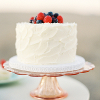 Berries Fruit Wedding Cake