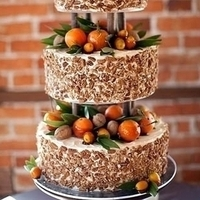 Orange Fruit Wedding Cake