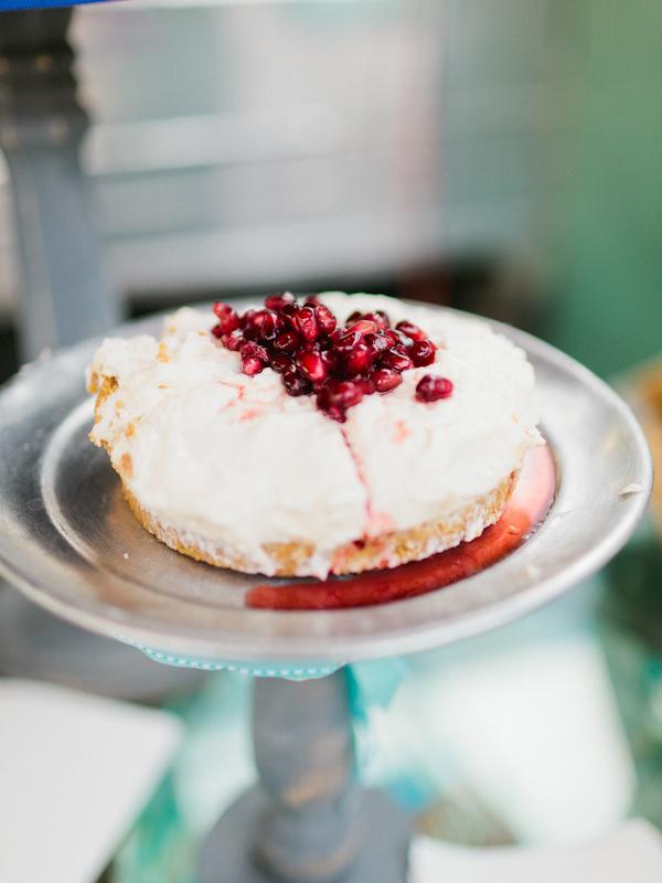 Pomegranate Fruit Wedding Cake