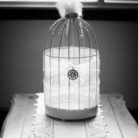 Bird cage card holder (DIY)
