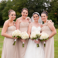 Bridesmaids in Beige