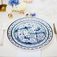 Blue China Place Setting