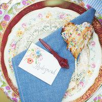 Denim and Floral Place Setting