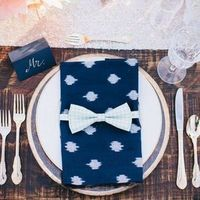 Navy Ikat Place Setting