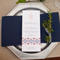 Silver and Navy Place Setting