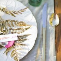 Gold Leaves Place Setting