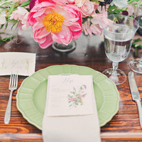 Mint Green Place Setting