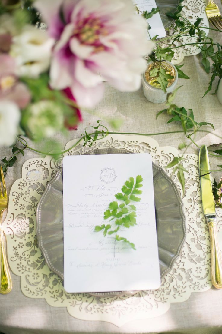Vintage Chic Place Setting