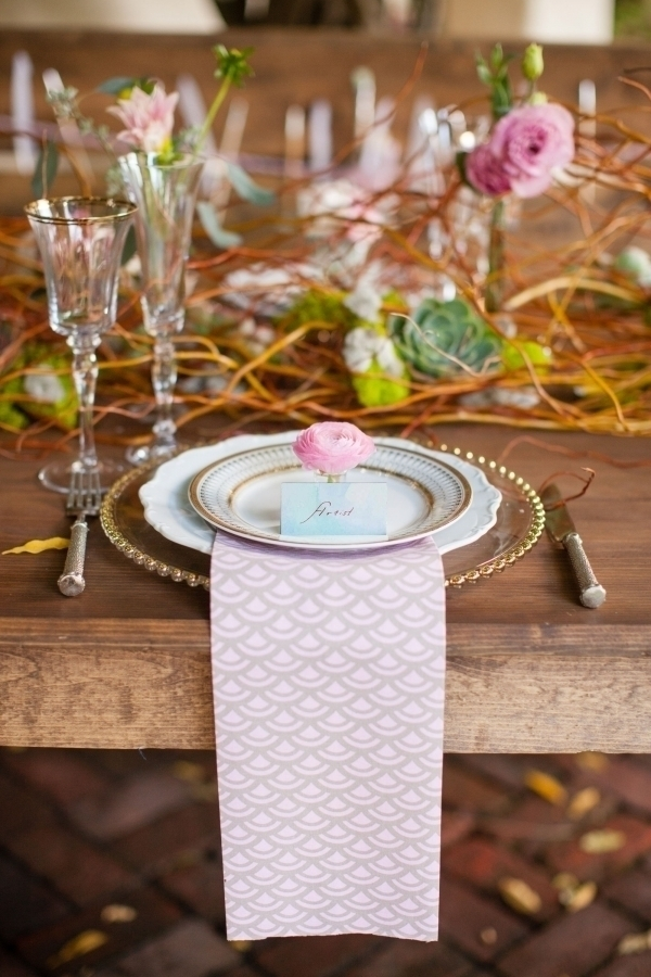 Patterned Place Setting