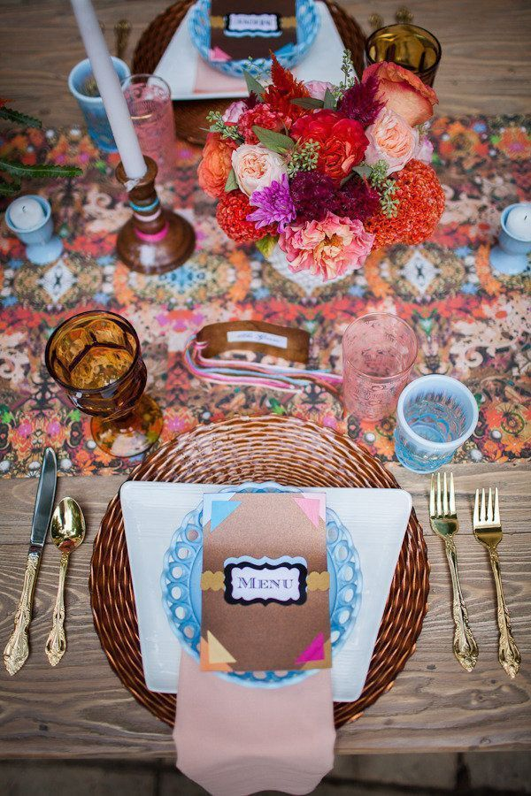 Bronze Boho Place Setting