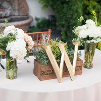 Monogrammed Sweetheart Table