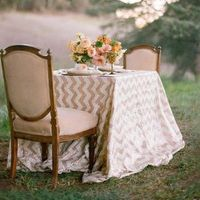 Gold Chevron Sweetheart Table